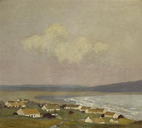 Paul Henry RHA (1876-1958) KEEL VILLAGE, ACHILL ISLAND, 1911
