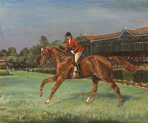 Attributed to Olive Whitmore RUSTY, RDS DUBLIN HORSE SHOW, c.1948