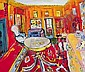 Elizabeth Cope, (b.1952) INTERIOR, SHANKILL CASTLE, PAULSTOWN, CO. KILKENNY (THE ARTIST'S HOME) signed lower right; inscribed and signed again on, Elizabeth Cope, Click for value