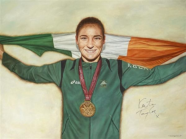 Mark Baker (b.1984) PORTRAIT OF KATIE TAYLOR, 2012