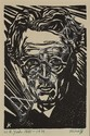 Harry Kernoff RHA (1900-1974) PORTRAITS OF W.B. YEATS, JAMES CLARENCE MANGAN and JAMES JOYCE (SET OF THREE)