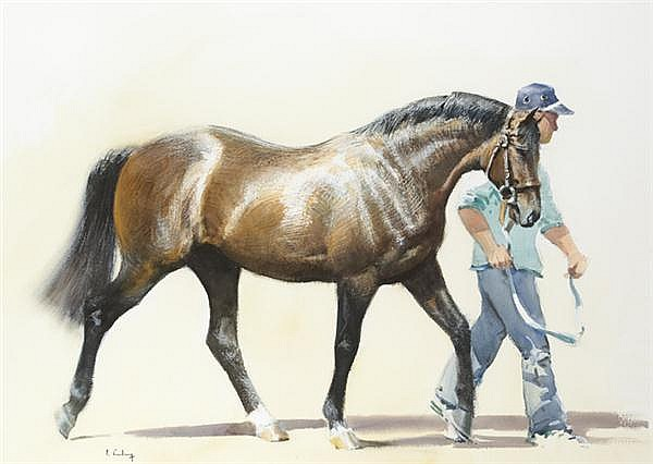 Peter Curling (b.1955) STALLION PARADE