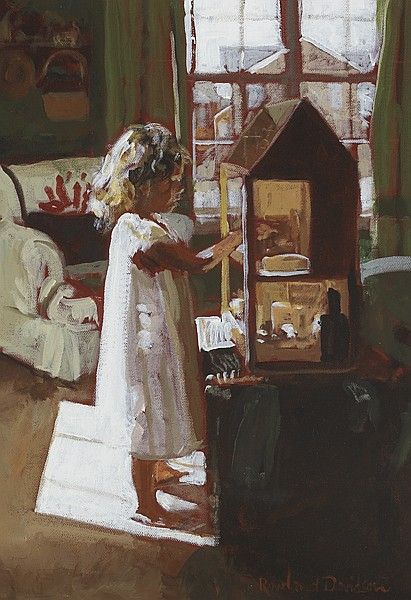 Rowland Davidson (b.1942) THE DOLL'S HOUSE