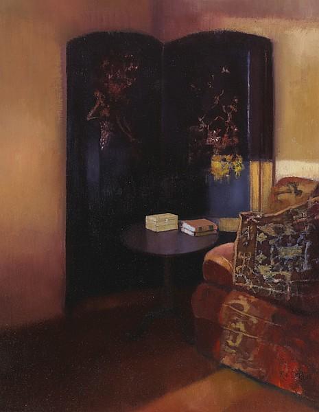 Rose Stapleton WCSI (b.1951) ESTHER'S SCREEN AT SELLERNAUN