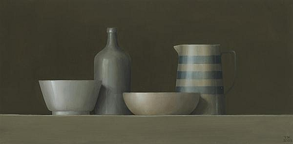 Trudy Mooney (b.1961) BLUE AND WHITE JUG, 2003