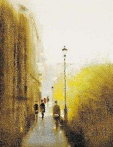 Anthony Robert Klitz (1917-2000) VIEW TOWARDS TRINITY COLLEGE FROM GRAFTON STREET signed lower right; dated [1978] on reverse oil on canvas 46 by