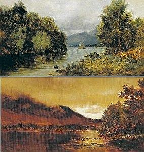 Alexander Williams, RHA (1846-1930) THE MIDDLE LAKE, KILLARNEY and RAIN COMING ON FROM ROSS CASTLE, KILLARNEY (A PAIR) signed lower right and lower