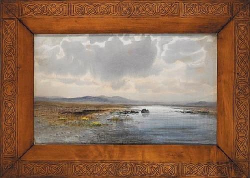 William Percy French (1854-1920) WHERE EVER I GO MY HEART TURNS BACK TO THE COUNTY MAYO signed and dated [1902] lower left; original label on