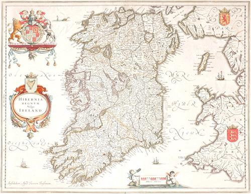 1646 Map of Ireland, by Joannes Jansson.
