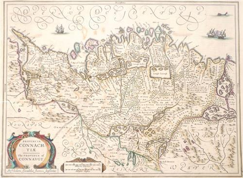 1646 Map of Connaught, by Joannes Jansson.