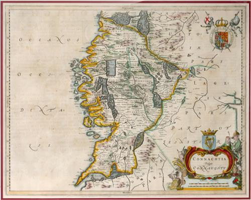 1654 Map of Connaught by Joan Bleau.