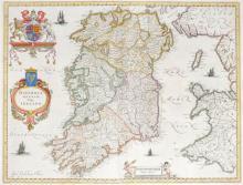 1662 Map of Ireland by Joan Blaeu
