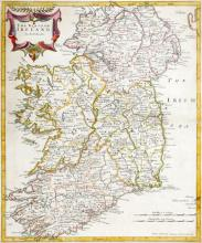 Late 17th century, map of The Kingdom of Ireland by Robert Morden.