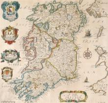 Late 17th century, map of Ireland