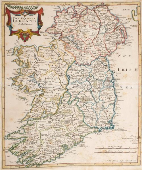 1695 The Kingdom of Ireland, by Robert Morden.