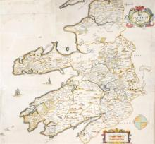 1732 Map of County Kerry by William Petty.