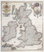 Circa 1740 Map of Britain and Ireland, by Matthias Seutter