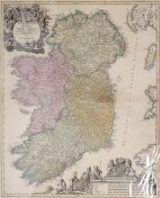 1743 Map of Ireland, by Guillaume de Lisle.