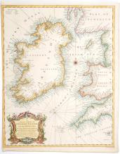 1744 A chart of St. George''s Channel and the Irish Sea and plans of the Principal Ports, Towns and Harbours of Ireland. (2)