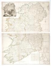 Circa 1760 Map of Ireland, by John Rocque