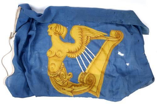 19th century, Standard of the Kingdom of Ireland, a gold harp on a blue ground.