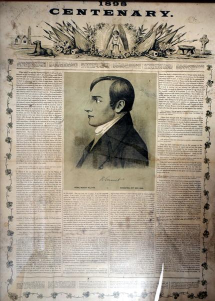 1798-1898 Centenary poster