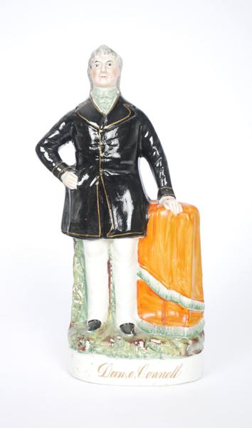 19th century Staffordshire figure of Daniel O''Connell.