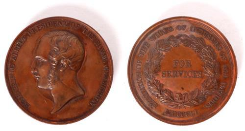 1851 Victoria, The Great Exhibition, London, Presentation Copper Medal.