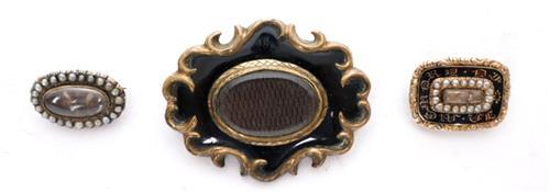 19th century mourning brooches.