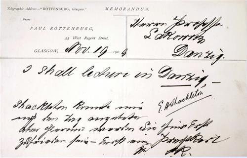 1909, Ernest Shackleton signature
