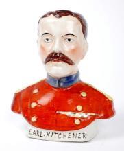 1914-1918 Earl Kitchener, Staffordshire moneybox.