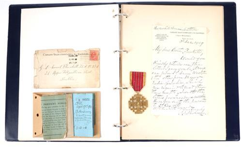 Count Plunkett, an archive of correspondence and a pilgrim''s medal.