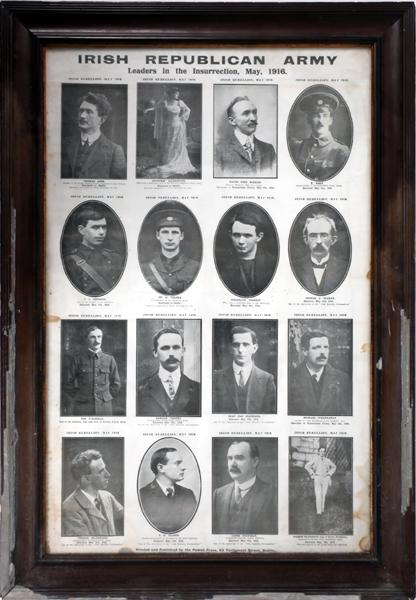 1916 Irish Republican Army, Leaders of the Insurrection, Powell Press poster.