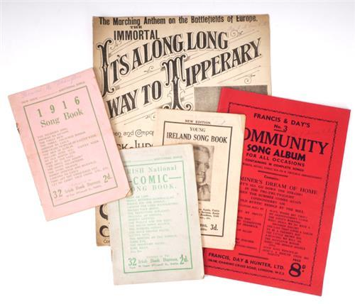 Early 20th century song books and sheet music. (5)