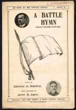 Sheet music, ''A Battle Hymn'' and ''Whack Fol the Diddle.''