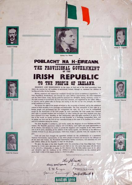 1916-1966 Poblacht na hEireann, 50th Anniversary commemorative poster.