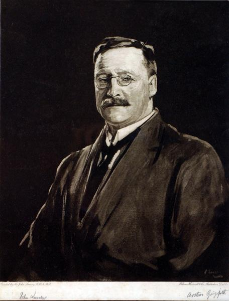 1921: Arthur Griffith, Sir John Lavery lithograph print, signed by both.