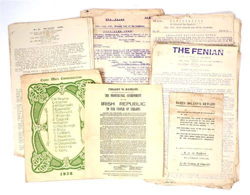 1922-1936 Collection of Republican ephemera.