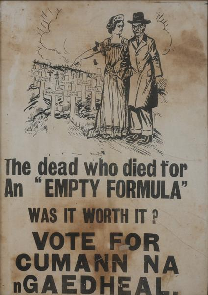 1927 General Election, Cumman na nGaedheal election poster.