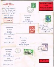 Postal History, 1955 British West Indies, Royal Visit covers. (2)