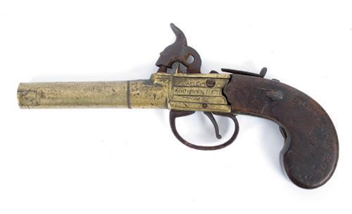 1800s brass pistol by Goodwin & Co.