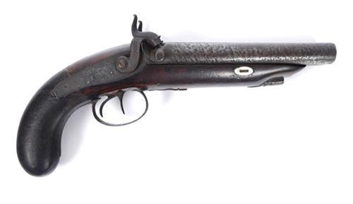 An early 19th century percussion, double-barrel howda pistol.