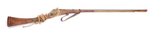 19th century Arab matchlock musket or Jezail