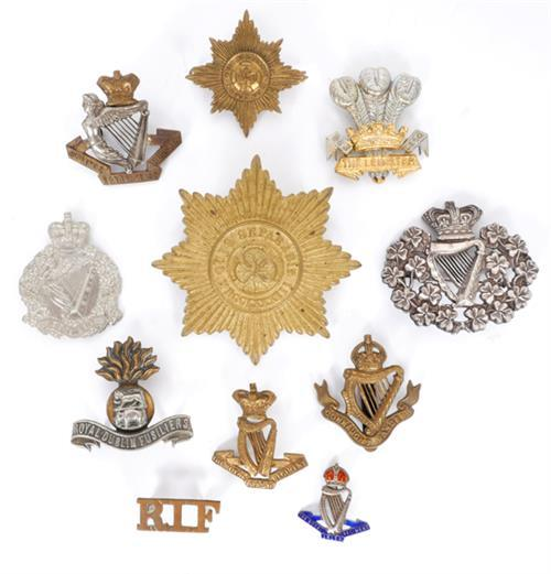 1881-1922 Royal Irish Regiment and various Irish regimental badges. (13)