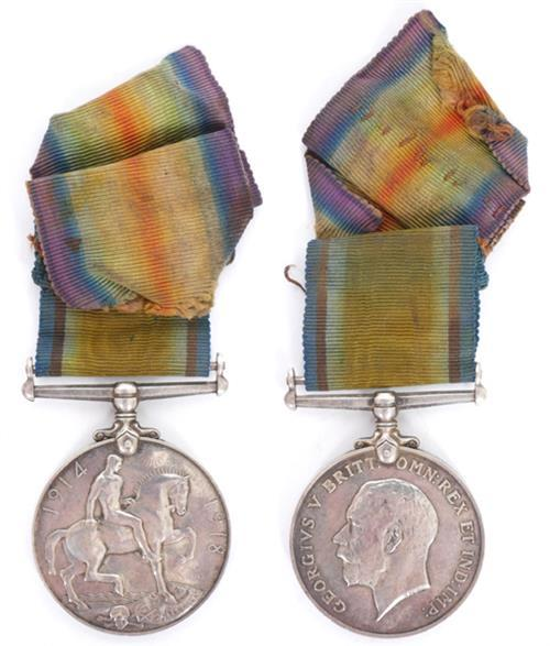 1914-1918 Great War Medal to a Munster Fusilier