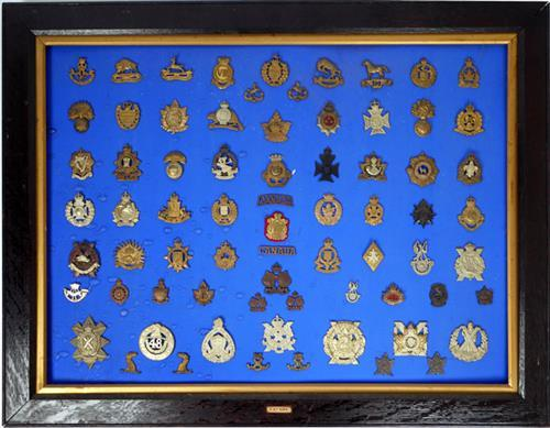 Canadian Army Regiments, collection of badges
