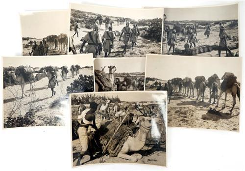 1939-1945 Photographs of Somaliland Gendarmerie camel train and two knives.