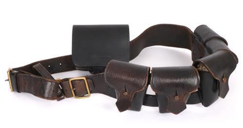 Early 20th century, Royal Irish Constabulary, bandolier and ammunition pouch. (2)