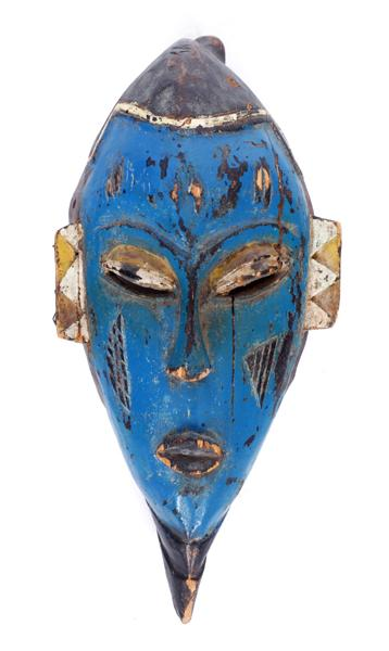 Early 20th century, Mali, Dogon painted male mask.
