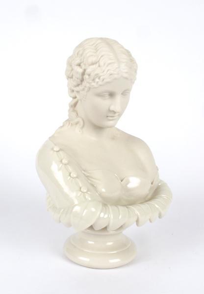 1891-1926 Belleek, Clytie sculpture